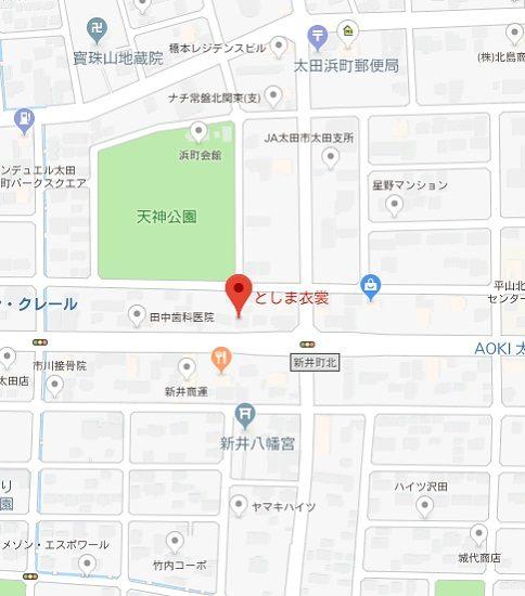 アクセスマップ(太田店)